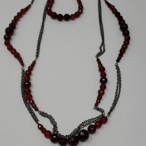 WHBM burgundy necklace